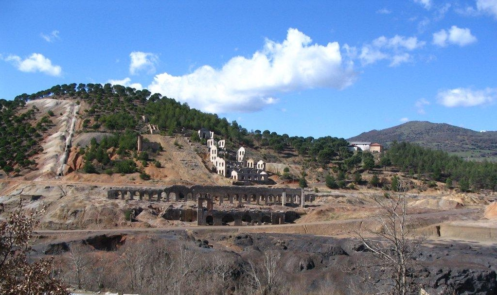 Historic mining ruins at Balya.