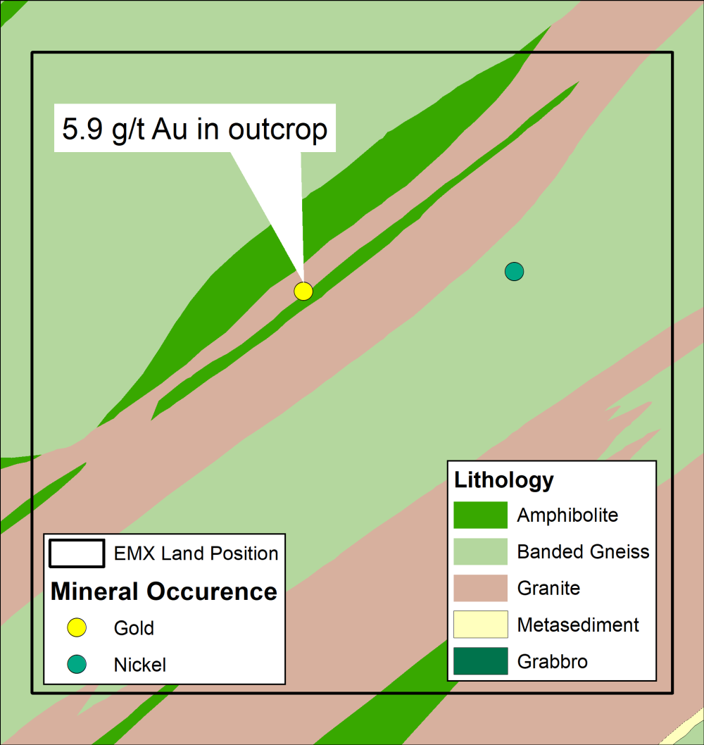 Vekselmyr geology and mineral occurrence